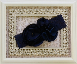 LaBella Flora Designer Headband in Navy