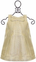 Lali Kids Baby Dress in Gold with Bow