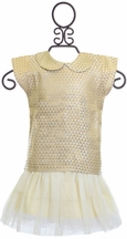 Lali Kids Girls Gold Skirt Outfit