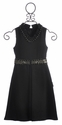 Laundry Amy V Neck Dress for Tweens in Charcoal