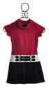Laundry Rouge Red Girls Cowl Neck Dress
