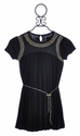 Laundry Sally Black Tween Dress Studded Bubble Hem