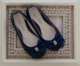 Laura Ashley Ballet Flats in Navy