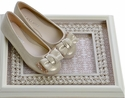 Laura Ashley Shoes Fancy Ballet Flats Golden Glitter