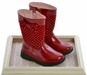 Laura Ashley Shoes Red Fashion Boots Polka Dot Fun
