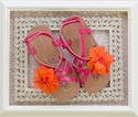 Laura Ashley Summer Sandals for Girls in Pink and Orange