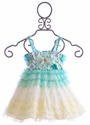 Le Pink Aqua Mermaid Infant Girls Ombre Dress