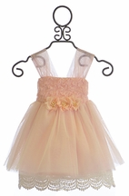 Le Pink Blush Special Occasion Dress for Girls (Size 7)