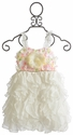 Le Pink Butter Icing Ruffled Girls Dress