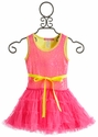 Le Pink Electric Mermaid Pink Tutu Girls Dress