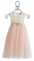 Le Pink Fancy Girls Dress in Ivory Rose