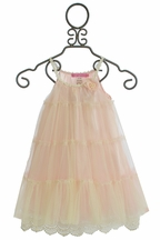 Le Pink Flower Girl Dress Five Tiers of Pink (12Mos,18Mos,4,6,6X)