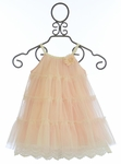 Le Pink Flower Girl Dress Five Tiers of Pink