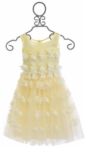 Le Pink Flower Girl Dress in Ivory