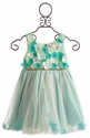Le Pink Girls Aqua Mermaid Flower Dress