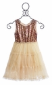 Le Pink Girls Party Dress in Leopard Sequins