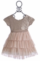 Le Pink Girls Party Dress Pink Glitter