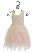 Le Pink Girls Party Dress Pink Rose