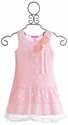 Le Pink Girls Pink Princess Lace Dress