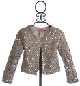 Le Pink Girls Shrug Special Occasion Pink Sequin