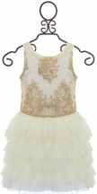 Le Pink Girls Special Occasion Dress in Ivory (3T,8,10)