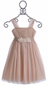 Le Pink Holiday Dress for Girls in Glitter Tulle