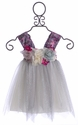 Le Pink Holiday Dress for Little Girls with Silver Tulle