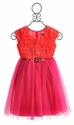Le Pink Jewel Girls Birthday Dress in Pink