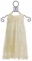 Le Pink Lace Dress for Girls in Ivory