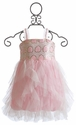 Le Pink Le Beaute Cascading Ruffles Girls Dress (24 Mos)