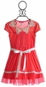 Le Pink Mimosa Coral Chiffon Girls Dress
