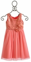 Le Pink Mimosa Coral Girls Dress