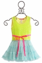 Le Pink Neon Electric Mermaid Tutu Dress