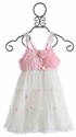 Le Pink Princess Pink Rose Girls Dress