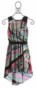 Le Pink Tween Girls Dress in Hi Low Hem (Size 7)