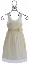 Le Pink Tween Holiday Dress Ivory Tulle (7 & 8)
