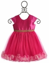 Le Pink Valentina Pink Party Dress for Girls
