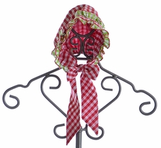 Le' Za Me Infant Bonnet for Girls Checkered Christmas (Size SM 12/24 Mos)