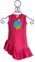 Lemon Love Lime Girls Dress with Cupcake in Fuchsia