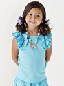 Lemon Love Lime Little Girls Top in Aqua