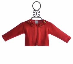Lemon Loves Lime Baby Girls Holiday Cardigan (0-3Mos,6-12Mos,18-24Mos)