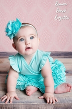 Lemon Loves Lime Baby Mia Dress in Blue (3/6Mos & 18/24Mos)