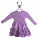 Lemon Loves Lime Baby Ruffle Dress in Purple