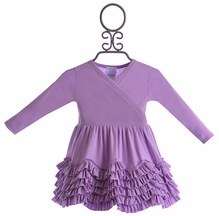 Lemon Loves Lime Baby Ruffle Dress in Purple (0-3Mos,3-6Mos,6-12Mos)