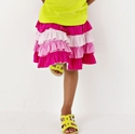 Lemon Loves Lime Cake Cream Skirt in Pink