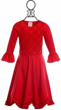 Lemon Loves Lime Cherub Dance Dress in Red (2,3,4)