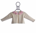 Lemon Loves Lime Designer Baby Sweater Ivory