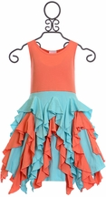 Lemon Loves Lime Dress Coral Reef