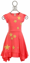 Lemon Loves Lime Dress with Starfish in Coral (2,3,4)