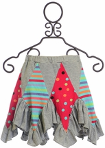 Lemon Loves Lime Fairy Patch Skirt in Gray (3,4,6,8)